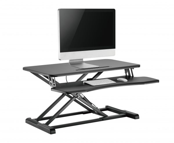 GSS061AB gas spring sit-stand desk converter iMac PC monitor