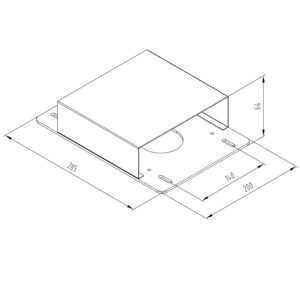 Optional parts for EDF34Q Electric Back-to-Back Desks (cable tray, spacer, and privacy screen brackets)