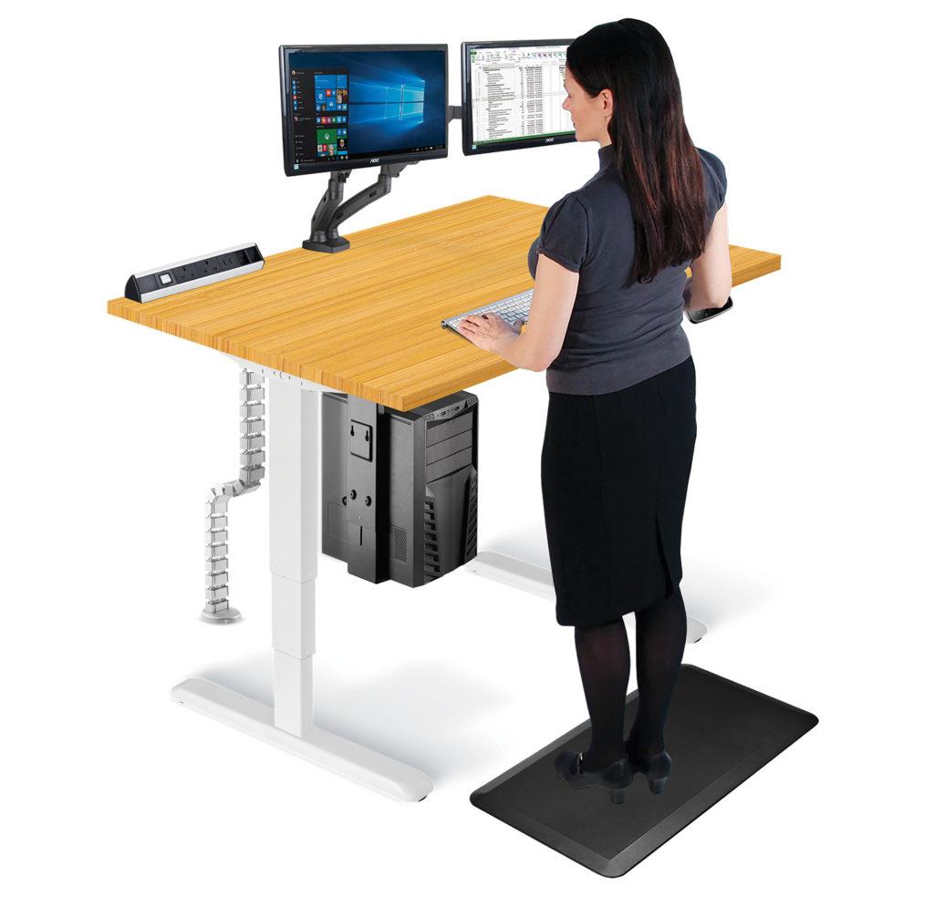 Allcam standing desk sit-stand workstation stand position