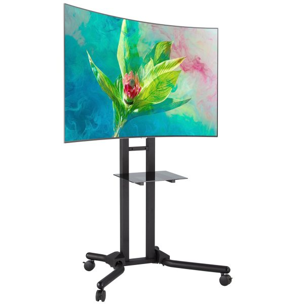 FS1040 2m tall heavy-duty TV trolley floor stand LCD