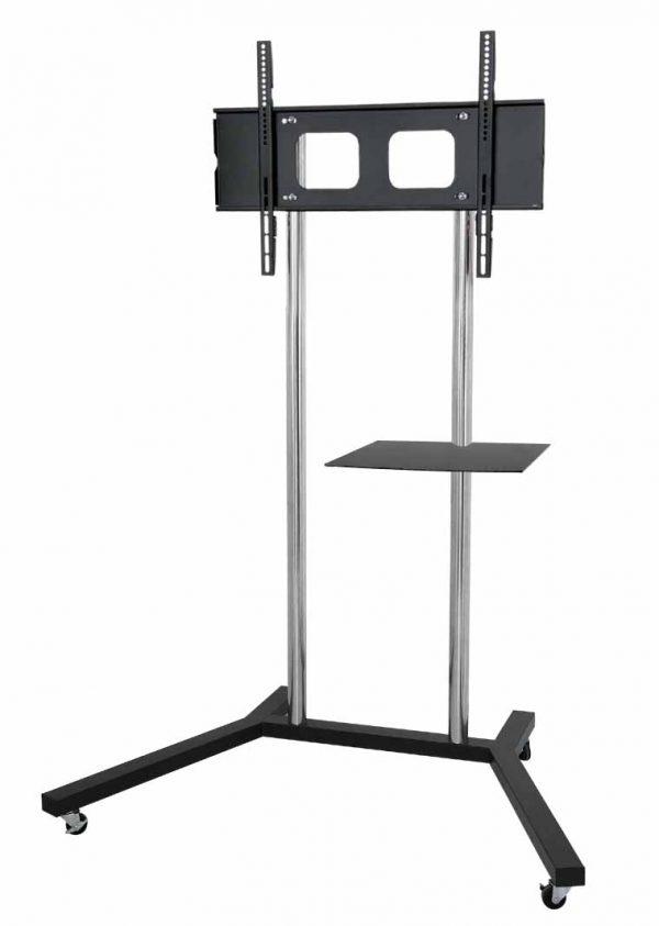 FS400-series elegant TV trolley floor stand chrome poles