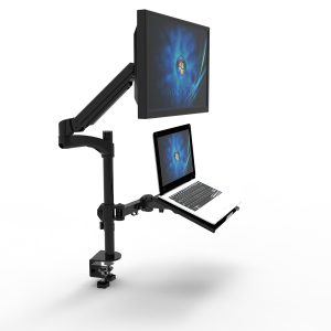 GW12 LCD gas spring workstation with laptop tray