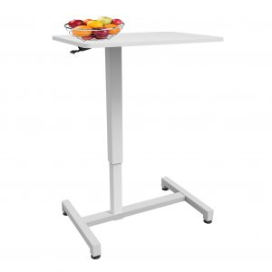 Allcam ACGBT05 Gas Spring Over-bed Table White, Height Adjustable 74-114cm
