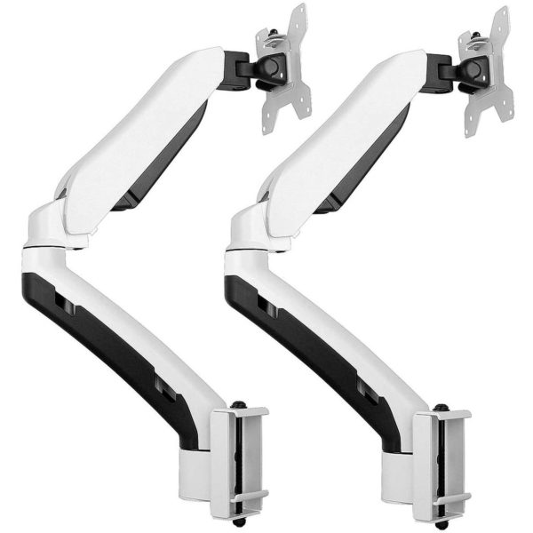 GSA22TBM dual LCD monitor arm with privacy screen toolbar mount