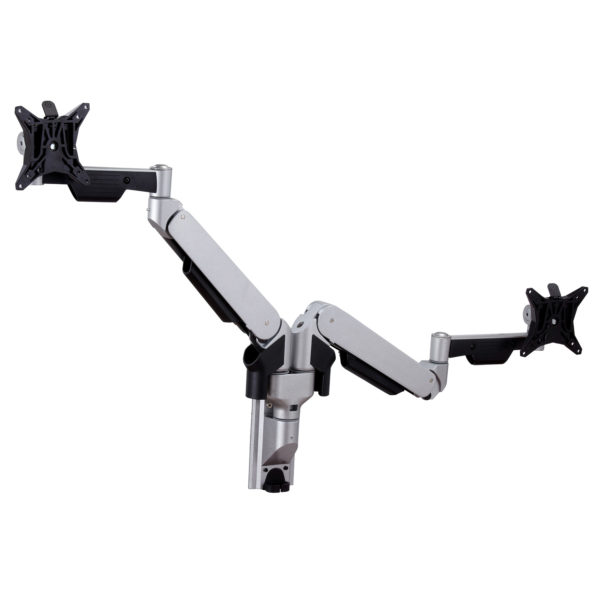 GSW250D twin dual LCD gas spring monitor arm wall mount horizontal extension