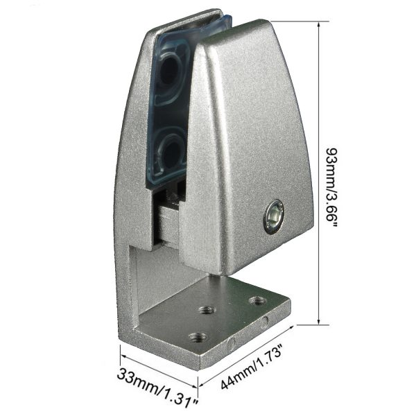 SEM02-series 2pcs Slim Edge-mount Brackets for Desk Top Privacy Screens / Dividers