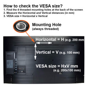 how to measure check my TV VESA size illustration