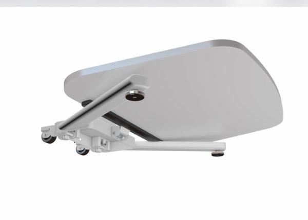 Allcam WST01 folding standing laptop desk lectern fold top