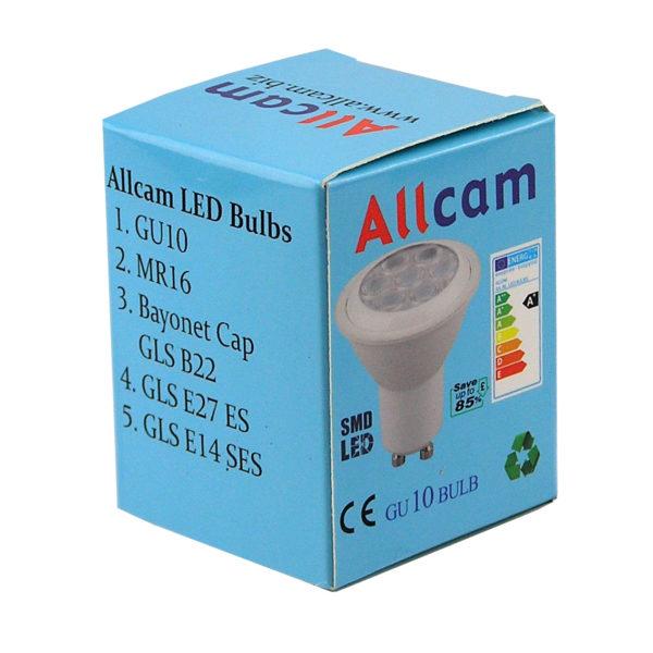 allcam eco LED GU10 light bulb retail box