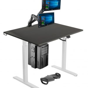 Allcam ergonomic office suite standing desk with accessories Silver