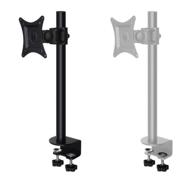 MDM10SG Black vs White single lcd monitor stand with desk clamp