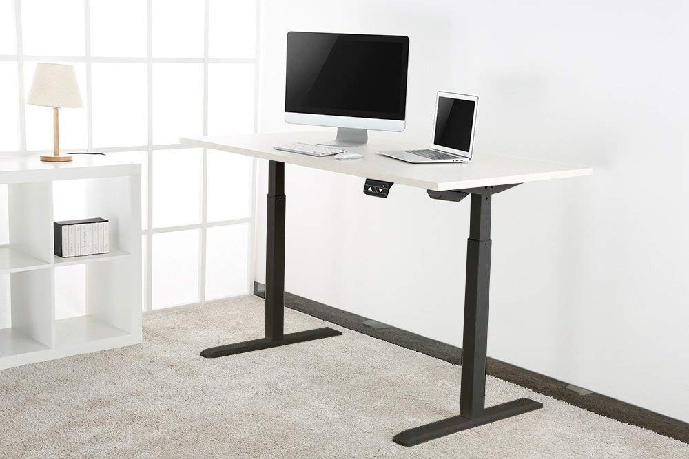 Allcam EDF01SN electric sit-stand desk in home office working