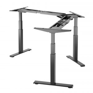 EDF03TS Triple motor electric desk 63-125cm w/ 3 memory presets in Silver