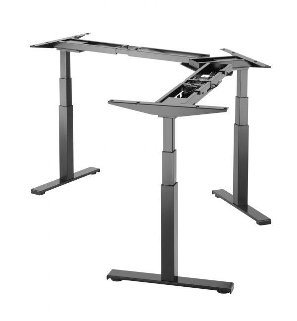 EDF03TS Triple motor electric desk 63-125cm w/ 3 memory presets in Silver