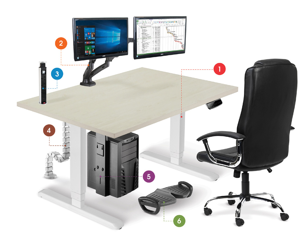 Allcam ergonomic suite illustration
