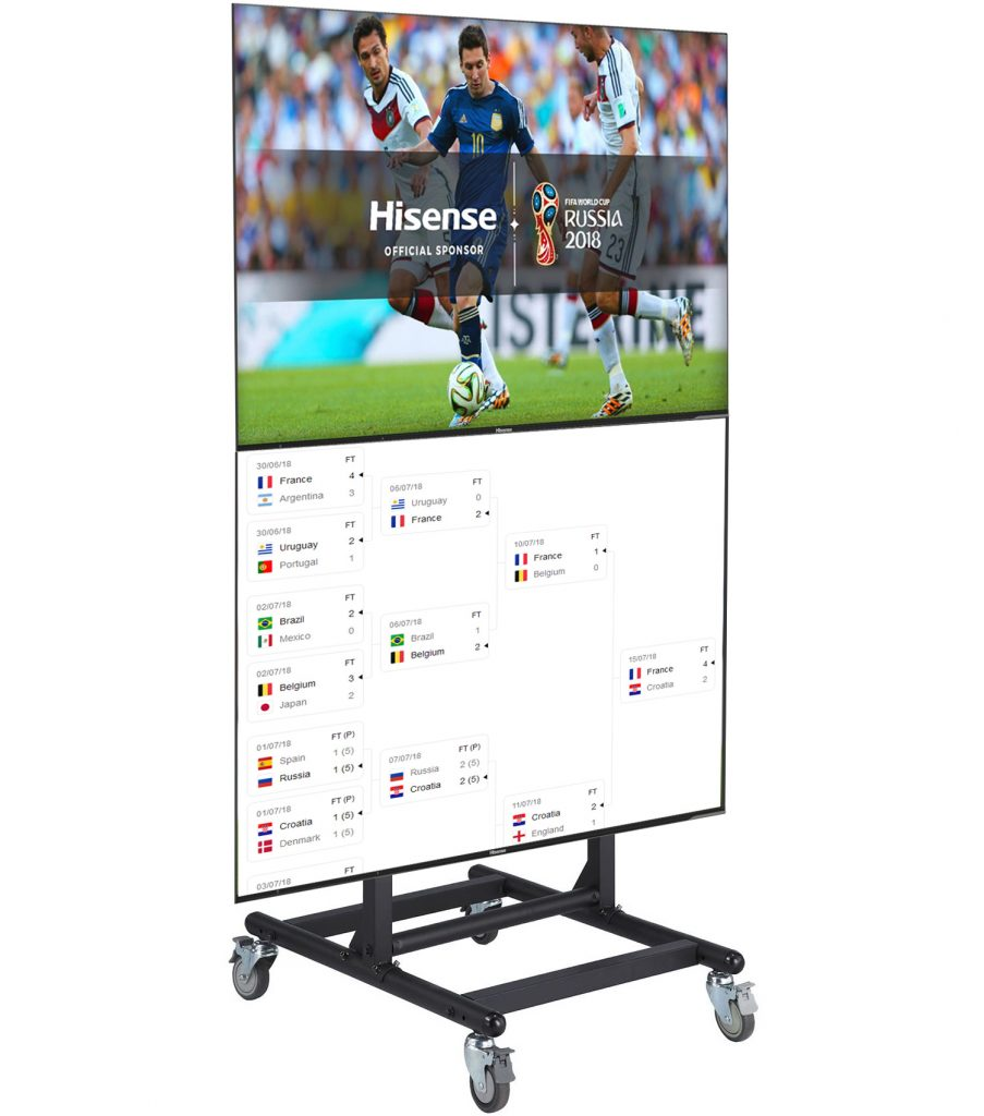 FS1068 quadriple TV trolley floor stand 4 LCD