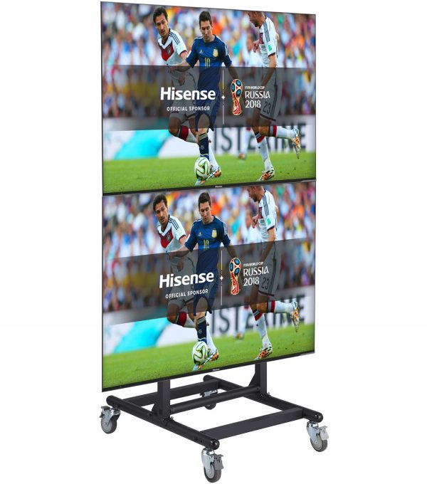FS1068 quadriple TV trolley floor stand 4 LCD