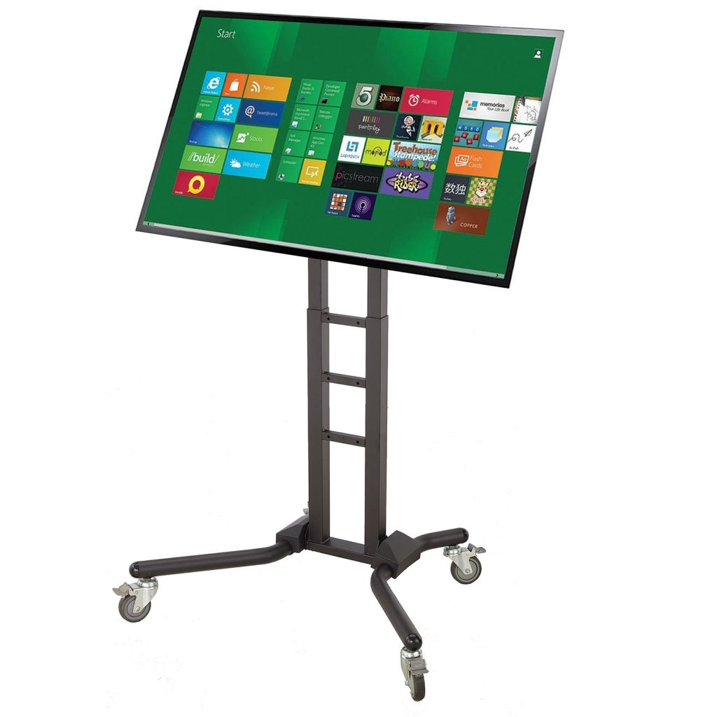 "FS1069 Heavy duty TV trolley floor stand for 70""-120"" Interactive touch screen LCD"