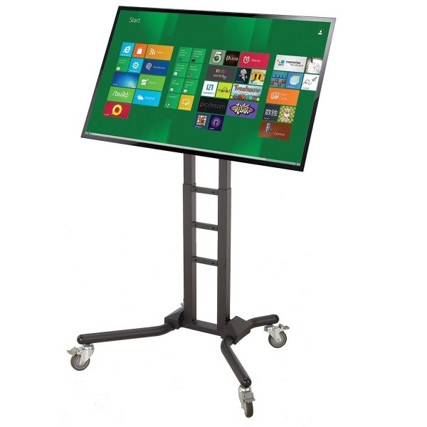 """FS1069 Heavy duty TV trolley floor stand for 70""""-120"""" Interactive touch screen LCD"""
