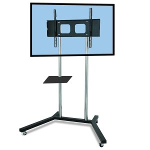 FS400-series elegant TV trolley floor stand chrome polesLCD