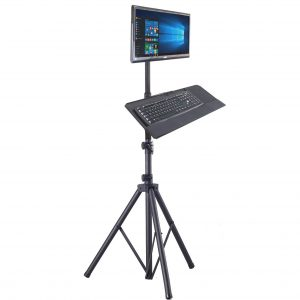 TR940KBT tripod portable LCD monitor workstation w/ keyboard mouse tray