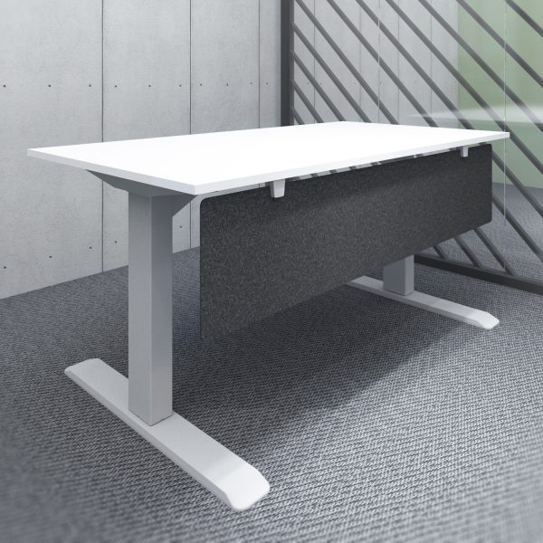 S14-series Acoustic Fire-proof Privacy Screen / Modesty Panel 140x35cm w/ Desk Mount