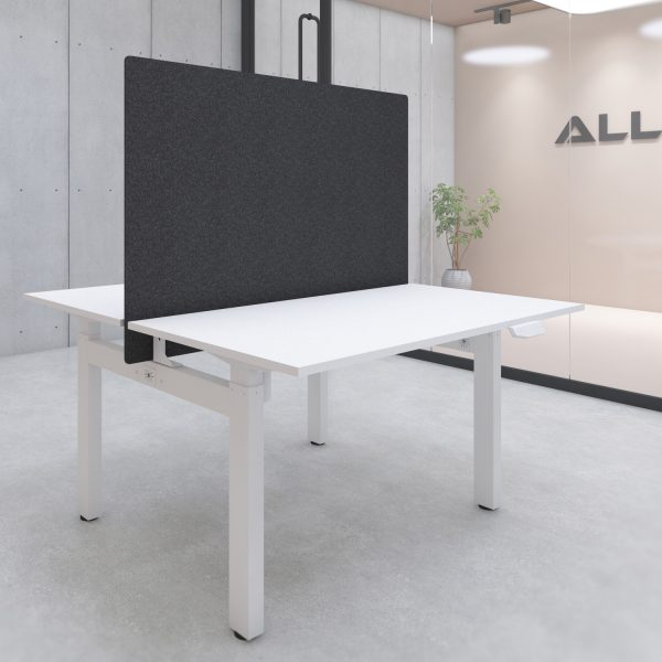 S149-series Acoustic Fire-proof Desk Privacy Screen 140x90cm w/ Mount