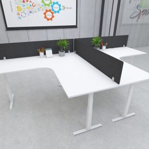 S164-series Acoustic Fire-proof Privacy Screen / Modesty Panel 160x35cm w/ Desk Mount