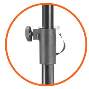 Allcam TR940A Portable Tripod TV Stand VESA 200x200 height adjustment knob