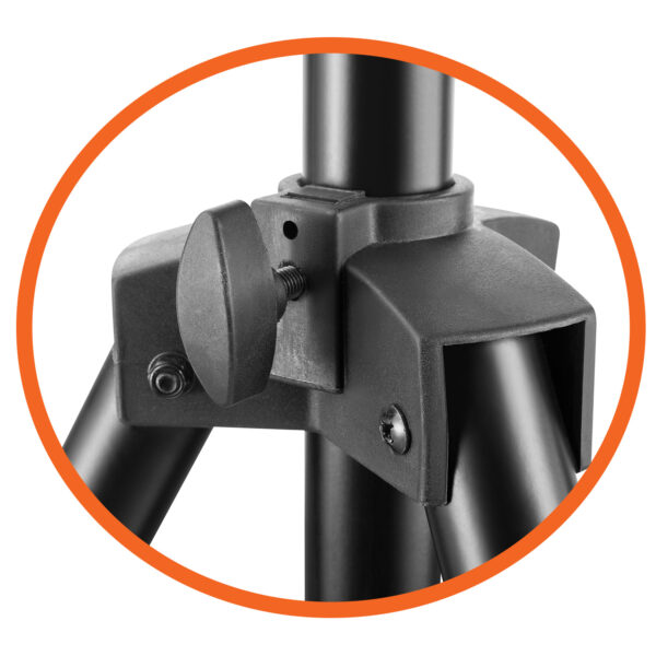 Allcam TR940A Portable Tripod TV Stand VESA 200x200 leg adjustment knob