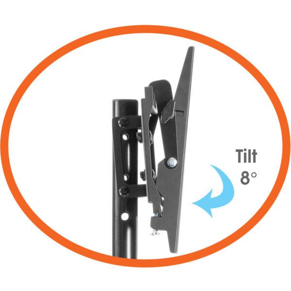 Allcam TR940A Portable Tripod TV Stand VESA 200x200 tilt control