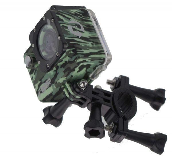Waspcam in waterproof case and bike mount