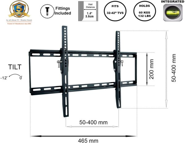 WM161M Universal TV Wall Bracket max VESA 400*400 features