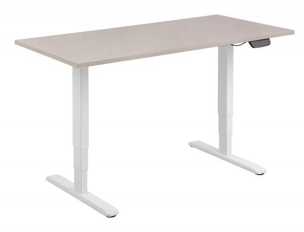 Allcam EDF12DW dual motor sit-stand desk frame with desktop