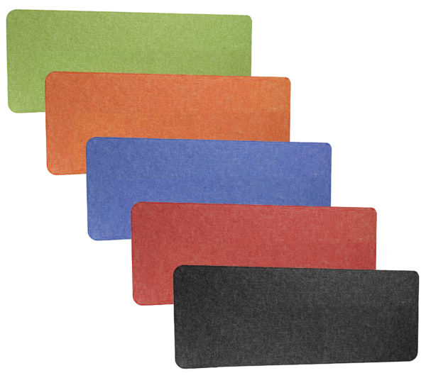 acoustic privacy screens various colours black green blue red orange