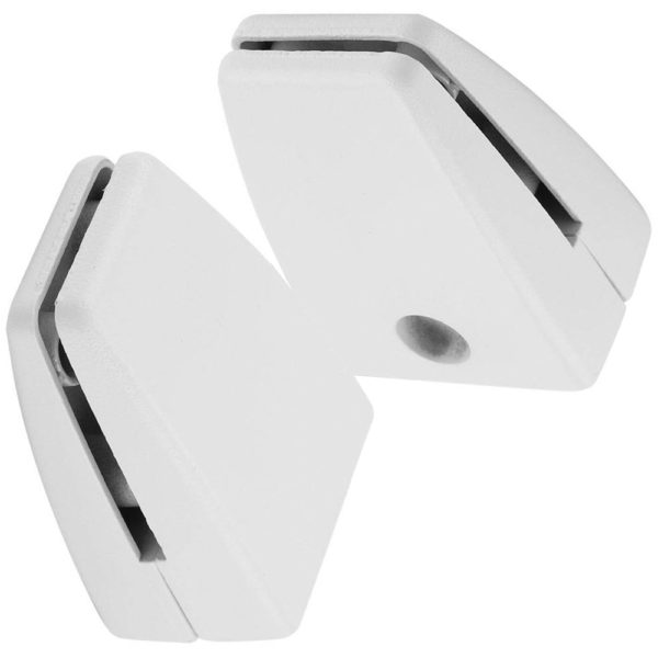 SEM01W Screw-down mount bracket for office desk privacy screens panels white