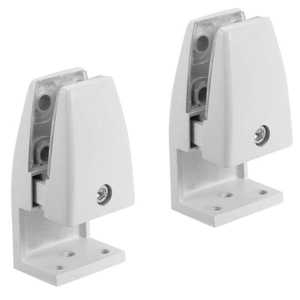 SEM02W L-type office desk privacy screen bracket clamp white pair