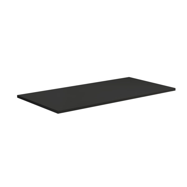 plain rectangular desk-top table-top work-top black