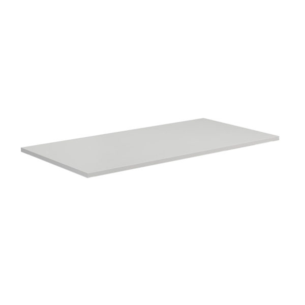 plain rectangular desk-top table-top work-top white
