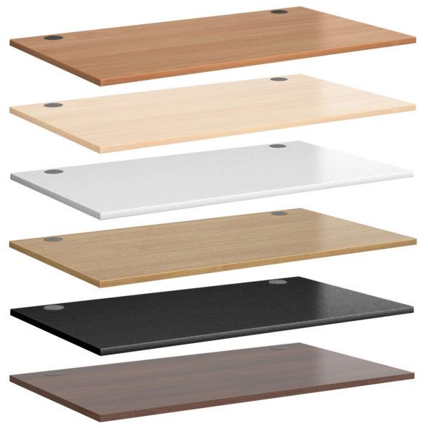 custom-made MFC desktop desk top worktop colours Beech Maple White Oak Black walnut