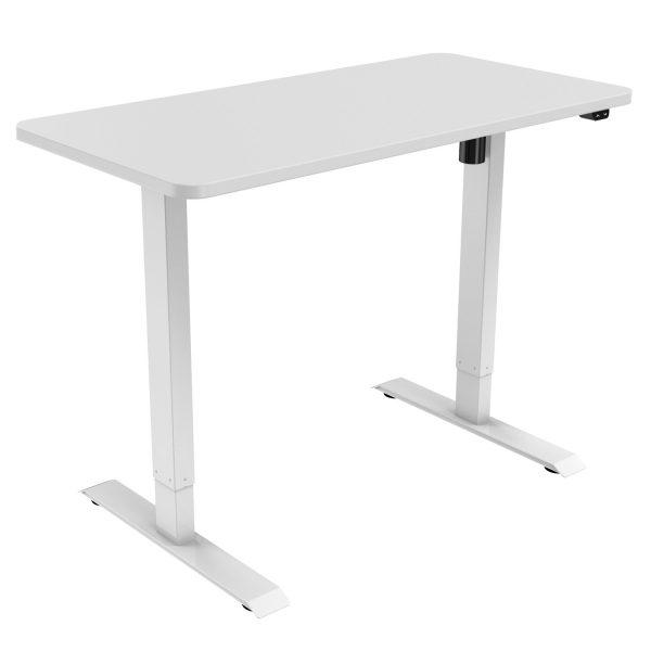White Allcam Desk ergonomic electric height-adjustable sit-stand workstation