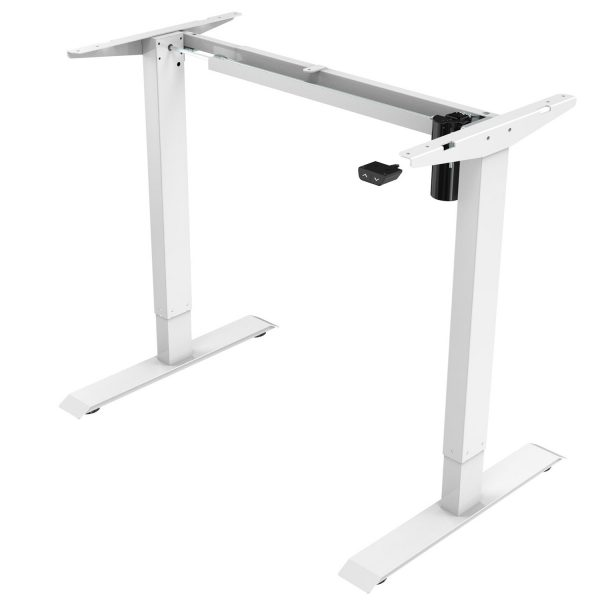 Allcam EDF21SS cheap electric height adjustable sit-stand desk frame silver
