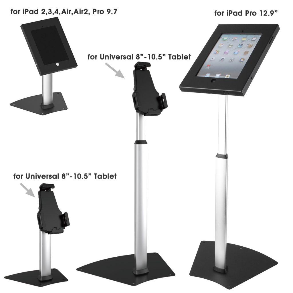 ipa-1200 ipp-1200 series ipad tablet desk stands and floor stand