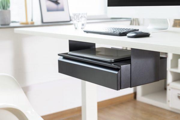 Allcam US022 Compact Steel Under-desk Storage Drawer (Pedestal Replacement)