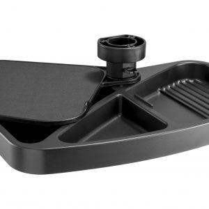 Allcam US032 Under-desk Mouse Pad Platform w/ Pen Storage 360 degree Swivel