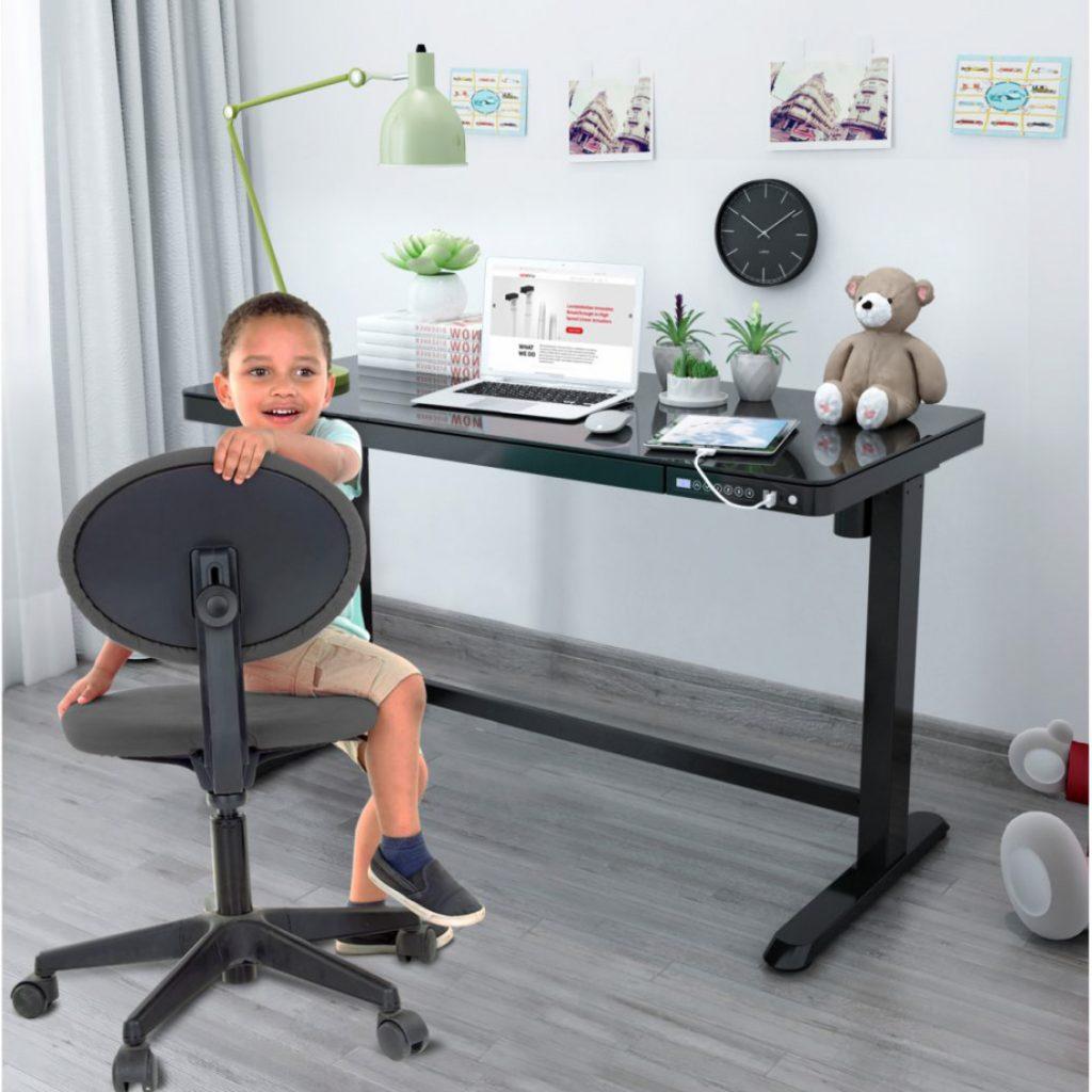 iMount children kid electric height adjustable desk black