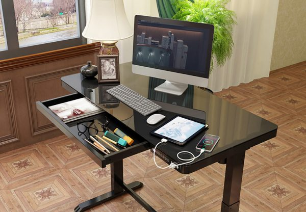 iMount ED20 electric height adjustable sit stand desk home working