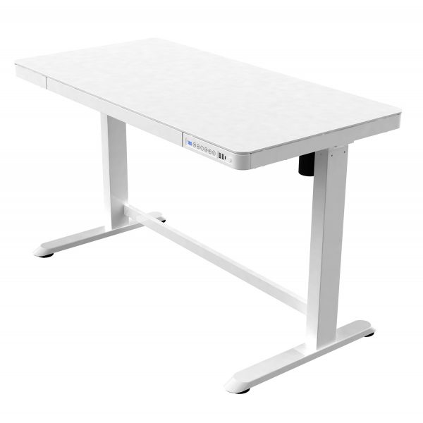 iMount ED20 home working electic sit-stand desk white
