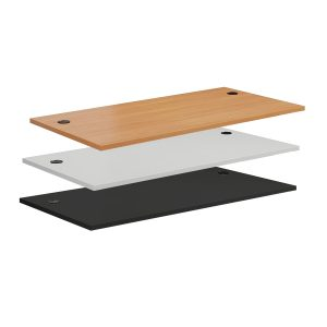 Allcam DT148CH8 MFC Desk-top 1400x800 mm with Cable Holes White BlackBeech