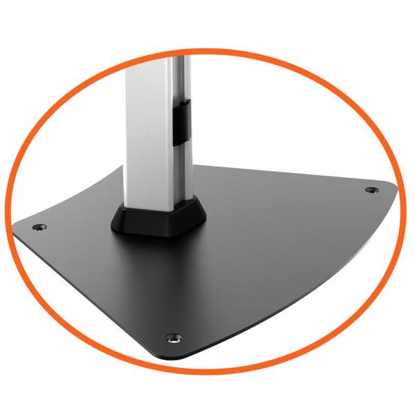 ipa1200 ipp1200 series ipad kiosk stand free-standing screw-down base